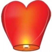 """Небесний ліхтарик """"червоне серце"""""""