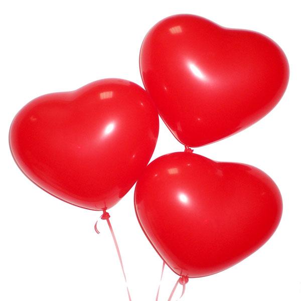 Повітряні кулі серця пастель червоні
