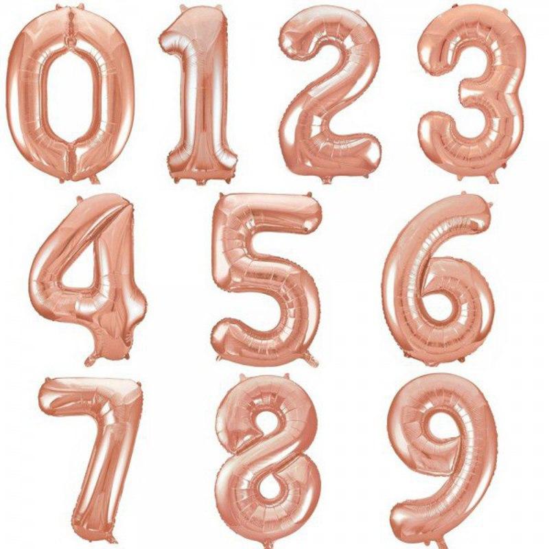 Фольговані цифри Рожеве золото, 80 см