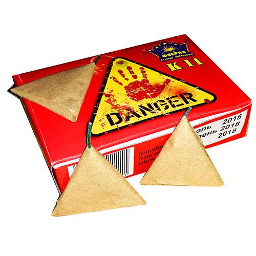 К11 Петарда трикутник Danger (1пач/20шт)