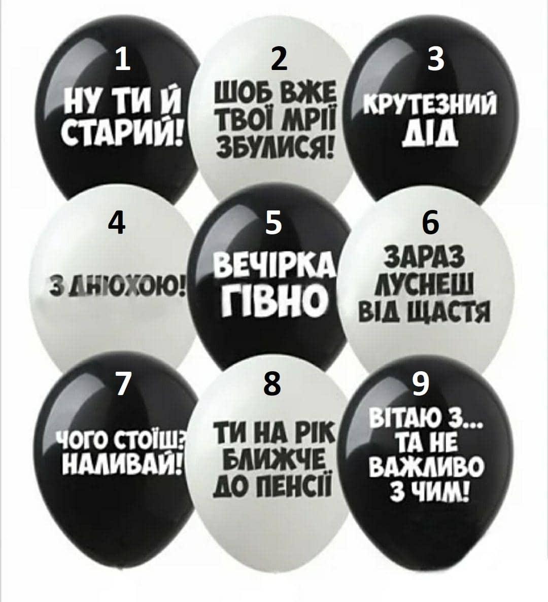 """""""Образливі"""" чорні та білі кульки"""